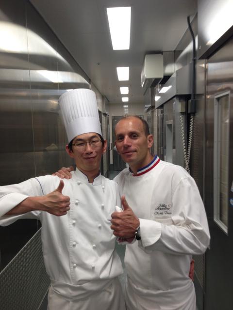 Le Chef pâtissier du Crown et Davy Tissot