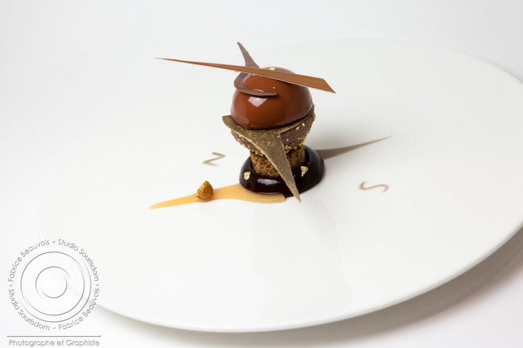 Dessert à l'assiette de Yoann Laval